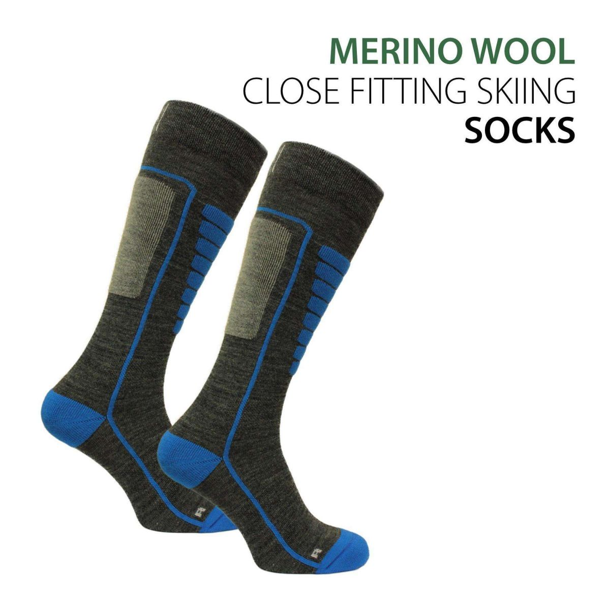 Norfolk Light Weight Merino Wool Skiing Socks - Courchevel