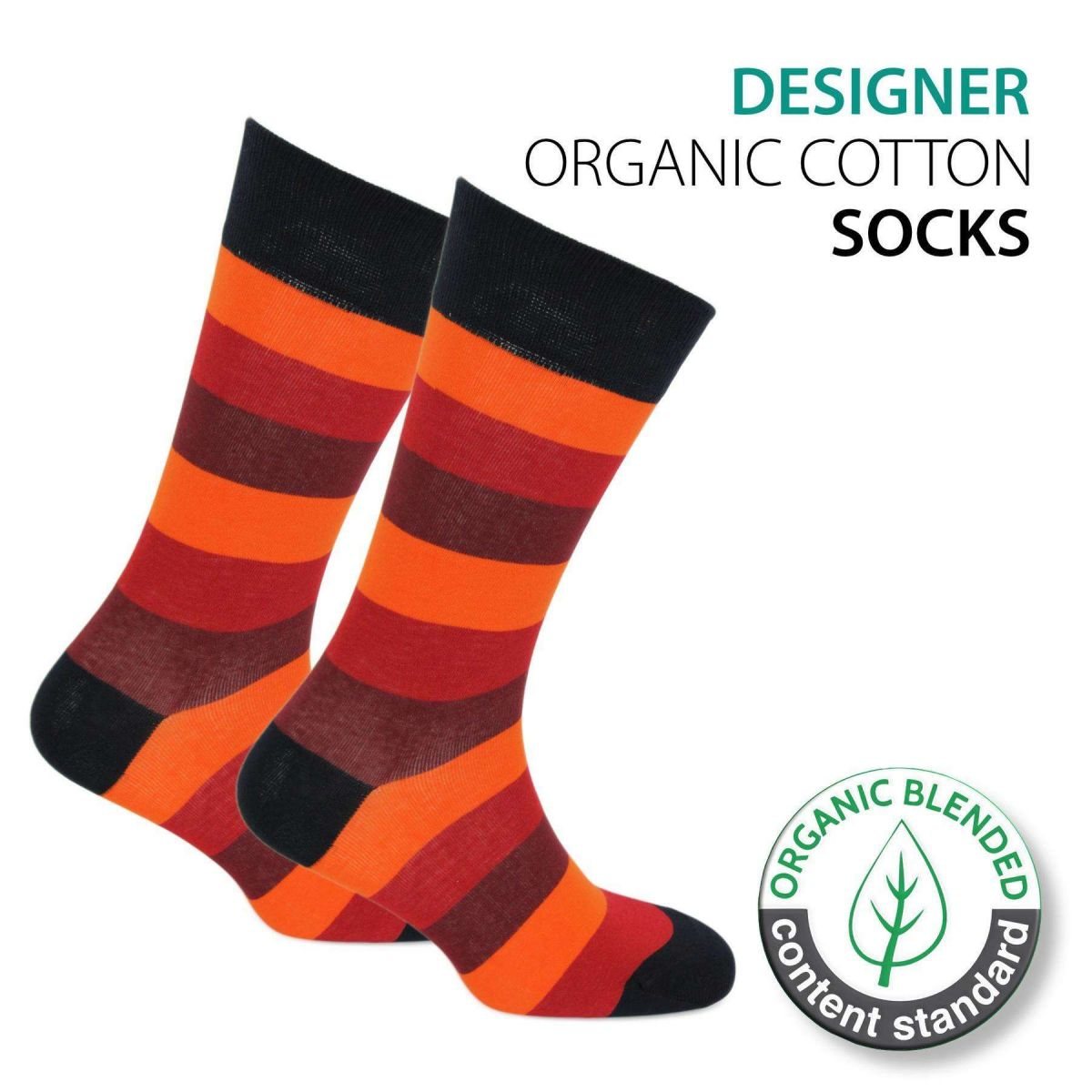 Certified Organic Patterned Cotton Socks - 059